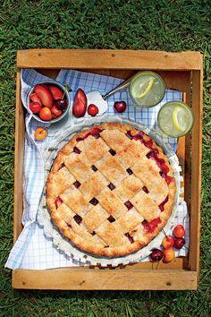 July 2016 Recipes: Cherry-Plum Pie