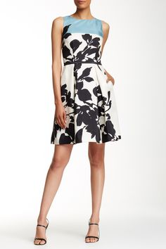 Sleeveless Shantung Fit N' Flare Dress by Taylor on @nordstrom_rack