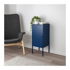 LIXHULT Cabinet, metal, dark blue metal/dark blue 13 3/4x23 5/8