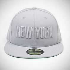 ACE HOTEL NEW YORK X NEW ERA CAP // $45. These limited edition 59FIFTY fitted wool caps sport a New York logo in front with an Ace Hotel logo in back. It's New York born-and-bred and fully twistable for representing either the hotel or the city while crossing streets or facing the world at a jaunty 3/4 angle. Available in grey, size 7 3/4 inches only.