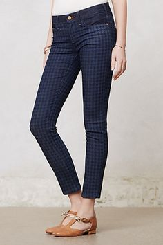 Pilcro Serif Legging Jeans #anthropologie {Not that you need more denim, but this is a great patterned option.  Let me know how this fit works for you.}