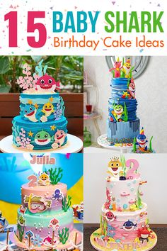 Looking for some Baby Shark cake ideas? We showcase a couple that should be perfect for a boy or girl's birthday party. Shark Birthday Cakes, Baby Boy Birthday Cake, Boys 1st Birthday Party Ideas, Girl Birthday Themes, 21st Birthday, Shark Cake, Birthday Greetings, Birthday Cards, Funny Happy