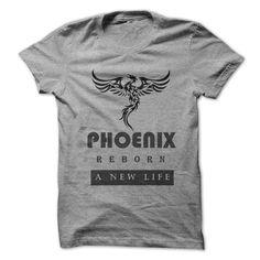 Phoenix reborn a new life T-Shirts, Hoodies. VIEW DETAIL ==► https://www.sunfrog.com/LifeStyle/Phoenix--reborn-a-new-life.html?id=41382