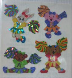 Vintage sandylion Glittery cheerleader animals