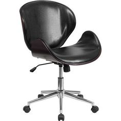 Flash Furniture Mid-Back Leather Conference Chair with Swivel & Reviews…
