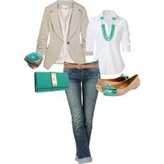 "Perfect ""Casual Friday"" outfit! Now if only I could find a white oxford that buttoned over my chest lol // jw"