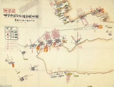 Battle map that charts Bombing of Pearl Harbor