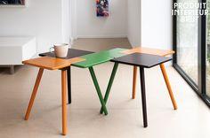 Tres en uno, asimetría y colores para un estilo único. ¡Una varias mesas para un efecto vistoso!