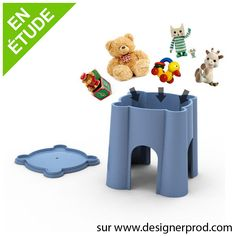 Fortress is a plastic stool for toddlers. At the top of its towers, it contains the wonders of your children. The openings that can make him have a good playmate. Fortress is available in several colors.
