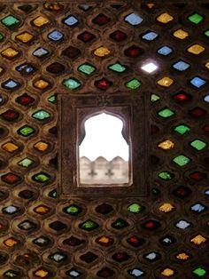 jewelled window at Bundi Palace