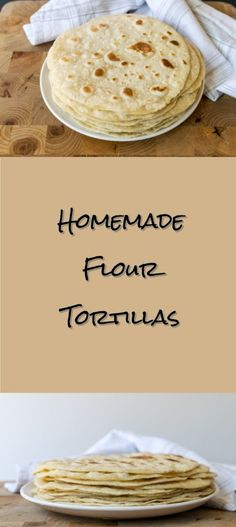 Homemade Flour Tortillas Hand made flour tortillas made with lard! A flaky and savoriness you must try for yourself . Click for recipe by Cooks and Kid! www.cooksandkid.com