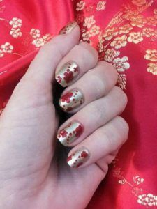 Chinese new year nail art flowers over china glaze classic camel 60 best nail art ideas for chinese new year prinsesfo Images