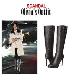"On the blog: Olivia Pope's (Kerry Washington) knee high leather high heeled boots | Scandal 413 - ""No More Blood"" #tvstyle #tvfashion #fashion #gladiators #TGIT #fierce"