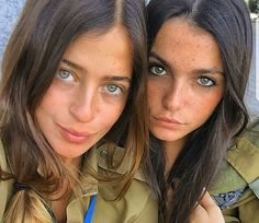 25 images of the hottest Israeli Defense Forces women who look just a good in fatigues as they do in bikinis! Israeli Female Soldiers, Beautiful Eyes, Beautiful Women, Israeli Girls, Idf Women, Army Police, Brave Women, Military Women, Girls Uniforms