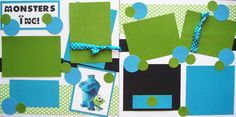 #Disney Monsters Inc scrapbook pages