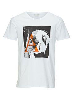 PREMIUM by JACK & JONES - T-Shirt von PREMIUM - Slim fit - Rundhals - Fotoprint vorn  100% Baumwolle...