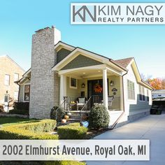 Just Listed | 2002 Elmhurst, Royal Oak, MI  Welcome Home to this completely renovated, historic Craftsman-style bungalow! Winner of the 2012 residential beautification award, this home was spared no expense in high end finishes and smart, livable spaces. Sun-drenched first floor includes over sized living room with window seat and gas fireplace, entertaining-sized dining room with wine bar, gorgeous eat-in Chef's kitchen, office with wall of built-ins and two bedrooms, one wi