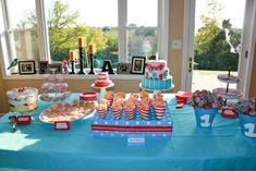 Logan's Dr. Seuss First Birthday | CatchMyParty.com