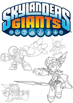 Print Free Colouring Sheets Skylanders Giants Characters Browse And Coloring Pages Tagged As