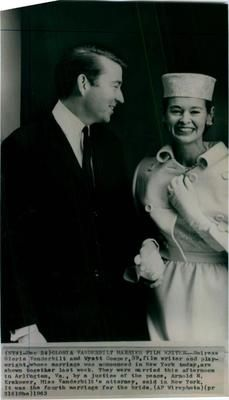1963 Heiress Gloria Vanderbilt Wyatt Cooper Film Writer Marriage Press Photo