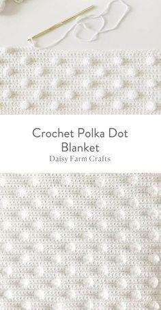 Free Pattern - Crochet Polka Dot Blanket