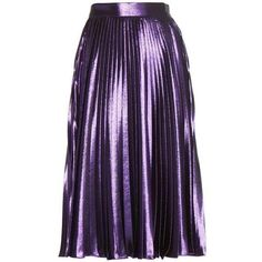 Metallic striped top ($1,350) ❤ liked on Polyvore featuring skirts, bottoms, faldas, gucci, frilly skirts, purple ruffle skirt, flouncy skirt, flounce skirt and striped skirts