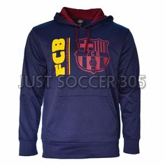 3a07213b0790 Barcelona Hoodie fleece Jacket Soccer Adult Sizes Soccer Navy Fc Barcelona   HKY  FCBarcelona Messi