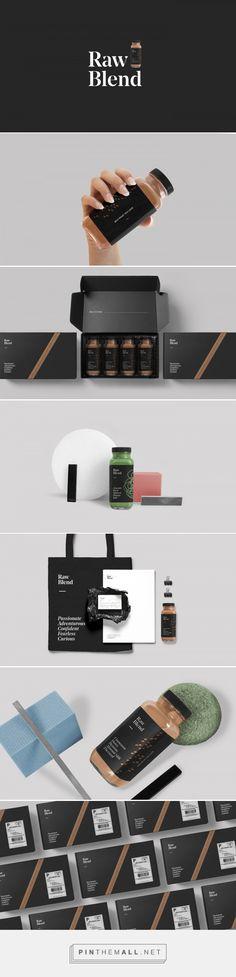 Raw Blend on Behance - visual identity, product, packaging, brand design, branding
