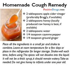 Homemade Cough Remedy | #survivallife www.survivallife.com
