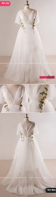 Only $215.45, Plus Size Wedding Dresses Plus Size Flowing Long Tulle Flowers Beach Wedding Dress For Outdoor Weddings #MN026 at #GemGrace. View more special Wedding Dresses,Beach Wedding Dresses,Plus Size Wedding Dresses,Boho Wedding Dresses now? GemGrace is a solution for those who want to buy delicate gowns with affordable prices. Free shipping, 2018 new arrivals, shop now to get $10 off!