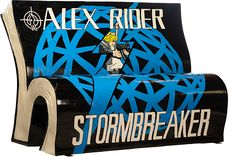 Bench in London based on the Design on the Stormbreaker Graphic Novel Cover
