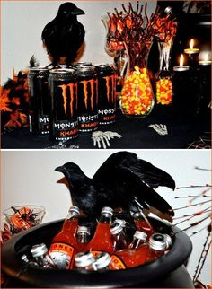 Halloween Wedding Reception Idea