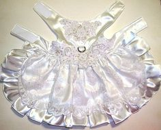 Fancy Dog Wedding Dress by LadybugsTreasures on Etsy for my little ring bearer