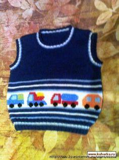 Delicadezas en crochet Gabriela: Ideas jacquard Transporte para chicos