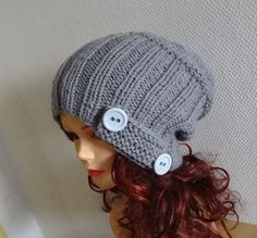 Sacking Winter Hat  Autumn Accessories  Slouchy Beanie by Ifonka, $30.00