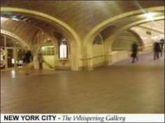 Check out Melissa Hill's Alternative New York Places to be Seen, including The Whispering Gallery