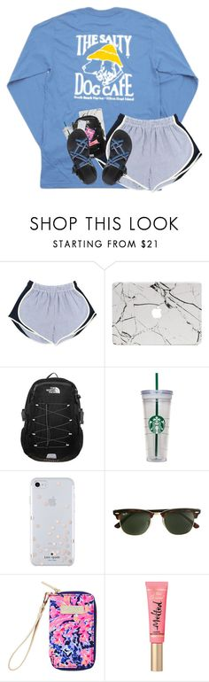 """hopefully ordering chacos!"" by harknessl ❤ liked on Polyvore featuring Hanes, The North Face, WALL, Kate Spade, J.Crew, Lilly Pulitzer, Chaco and preppybylauren"
