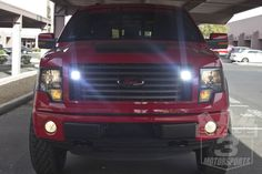 Rigid D-Series LED Lights Behind an F150's Grille