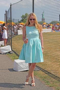 #dresscolorfully something blue at the veuve clicquot polo classic