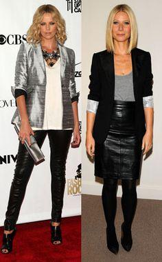 Leather pants & pencil skirt inspiration