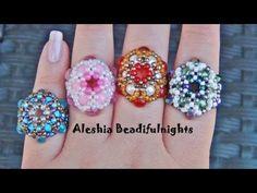Royal Beaded Ring Tutorial - YouTube