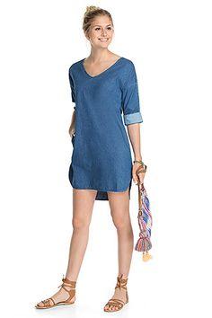 edc - Kleid aus 100% Baumwolle im Online Shop kaufen