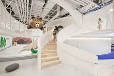 inKids with Linefriends Playground By Beijing Yusheng Yintai Business Management Co. Kids Indoor Playhouse, Kids Indoor Playground, Build A Playhouse, Kids Cafe, Kindergarten Design, Design Department, Pent House, Kid Spaces, Play Spaces