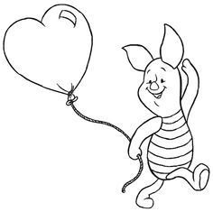 character outline winnie the pooh - Google Search