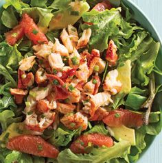 We let the lobster take center stage with avocado, grapefruit and a simple vinaigrette rounding out this Simple Lobster Salad.