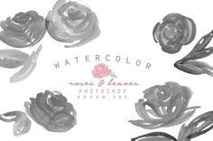 Watercolor Photoshop Brush - Roses @creativework247