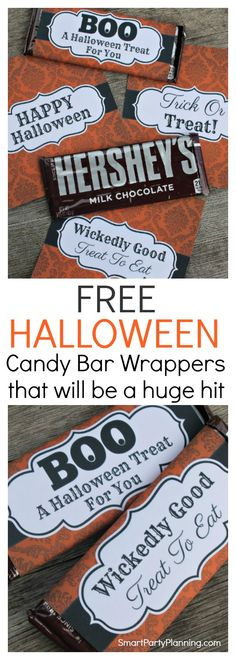 Grab your Halloween candy bar wrappers that are to…