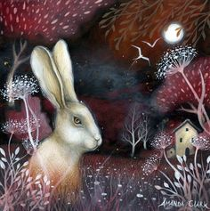Ruby Fields art print by Amanda Clark by earthangelsarts on Etsy