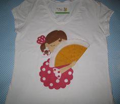 Camiseta de flamenca en fieltro