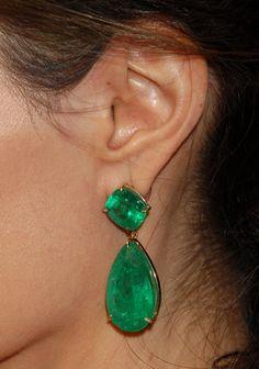Lorraine Schwartz Emerald Drop Earrings as seen on Blake Lively